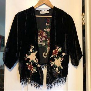 Vintage Abercrombie and Fitch Velvet Kimono